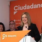 Carmen Picazo, durante la presentación de las Candidaturas Autonómicas y Municipales de Ciudadanos en Albacete