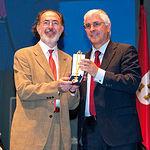 Ramón Palencia, sobrino del célebre pintor albaceteño de reconocimiento internacional, Benjamín Palencia, fue el encargado de recoger la Medalla de Oro de la Región a título póstumo en reconocimiento a su abuelo.