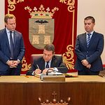 Visita institucional Emiliano García-Page al Ayuntamiento Albacete.