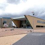 Centro de Emprendedores (izq.) e Instituto de Investigacion en Informática (dcha.) en los terrenos ubicados en el Parque Científico y Tecnológico de Albacete.