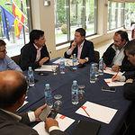 Reunión en Albacete con los responsables regionales de UPA y UGT, Julián Morcillo, y Carlos Pedrosa, respectivamente