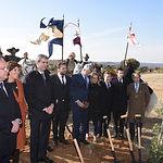 """Acto de colocación de la primera piedra del futuro parque temático """"Puy du Fou España"""". (Fotos: José Ramón Márquez // JCCM)"""