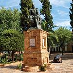Monumento a don Álvaro de Bazán, en Viso del Marqués (Ciudad Real).
