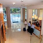Vista de la recepción del hotel Los Llanos de Albacete.