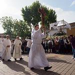 Misa en honor a la Virgen de Los Llanos previa al traslado de su Imagen a la capilla del Ayuntamiento de Albacete
