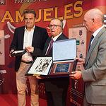 """Manuel Miranda, Juan Cantos """"Pimpi de Albacete"""" y Vicente Rouco en la Gala de entrega de los XI Premios Taurinos Samueles correspondientes a la Feria de Taurina de Albacete 2016"""