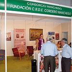 Stand del C.R.D.E. Cordero Manchego, en una de las ferias de Expovicaman celebrada en Albacete.