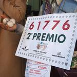 El 61776, segundo premio de El Niño, vendido en  Albacete.