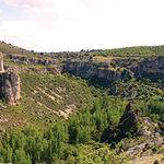 Vista del Parque Natural del Barranco del Río Dulce, en el término municipal de Sigüenza.
