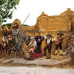 Alegoría de las Bodas de Camacho, narradas por Cervantes en El Quijote, en la localidad de Munera.
