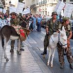 Manifestación por la desmilitarización del campo de tiro de Chinchilla.