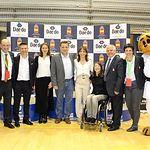 Manuel Serrano agradece a la Real Federación Española de Kárate que haya apostado por Albacete para celebrar el 41º Campeonato nacional de Kárate Infantil durante su asistencia a la ceremonia de apertura