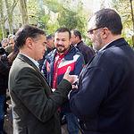 El candidato al Congreso por el PSOE, Manuel González Ramos, durante la tradicional Pegada de Carteles de las Elecciones Generales del 28A