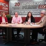 Ángela Núñez López, técnica de Empleo de Cruz Roja Albacete, Francisco Gómez Moreno, técnico de Empleo de Cruz Roja Albacete, Yolanda Asensio Monteagudo, coordinadora del Plan de Empleo de Cruz Roja Albacete, y Manuel Lozano, director del Grupo Multimedia de Comunicación La Cerca
