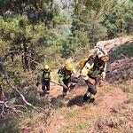 Imagen de trabajadores de INFOCAM en el incendio de Yeste.