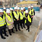 Rafael Catalá visita las obras del nuevo edificio de los Juzgados en Albacete