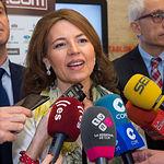 """Aurelia Sánchez, consejera de Bienestar Social, en el III Fórum """"Castilla-La Mancha de Cerca"""" organizado por el Grupo Multimedia de Comunicación La Cerca."""
