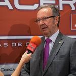 """Carlos de La Sierra, vicepresidente de Globalcaja, durante el III Fórum """"Castilla-La Mancha de Cerca"""" organizado por el Grupo Multimedia de Comunicación La Cerca."""