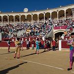 Paseillo de la primera corrida de la Feria Taurina de Albacete.