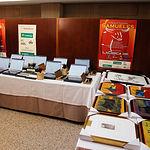 Gala de Entrega de los X Premios Taurinos Samueles, pertenecientes a la Feria Taurina de Albacete 2015. Mesa de trofeos entregados.
