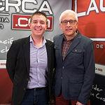 Santiago Cabañero, secretario general del PSOE provincial de Albacete, junto al director del Grupo Multimedia de Comunicación La Cerca, Manuel Lozano.