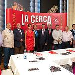 Foto de familia del Jurado de los VI Premios Taurinos Samueles que organiza el Grupo de Comunicación La Cerca.