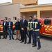 Álvaro Gutiérrez en la recpción de nuevos vehículos para el Consorcio de Extinción de Incendios