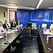 El consejero de Agricultura con representantes de la Asociación Empresarial Vitivinícola. Foto: JCCM.