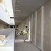 Las obras del nuevo Hospital de Toledo avanzan con trabajos en el interior del edificio. Foto: JCCM.