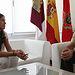 La alcaldesa ha recibido al nuevo jefe de la Base de Helicópteros de Almagro BHELA 1