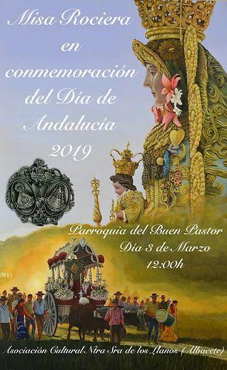 Cartel Misa Rociera 2019.