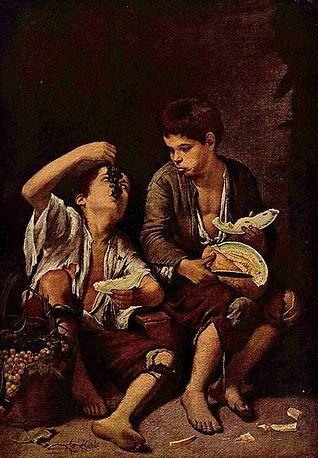 Pintura de Rinconete y Cortadillo. Archivo.