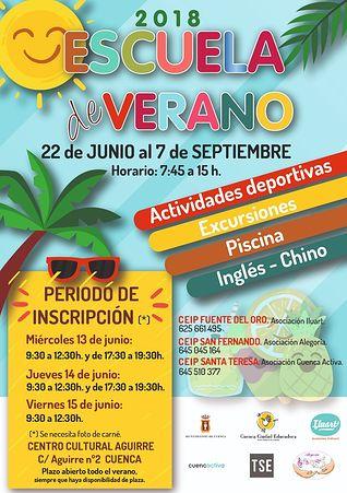 Cartel Escuela de Verano.