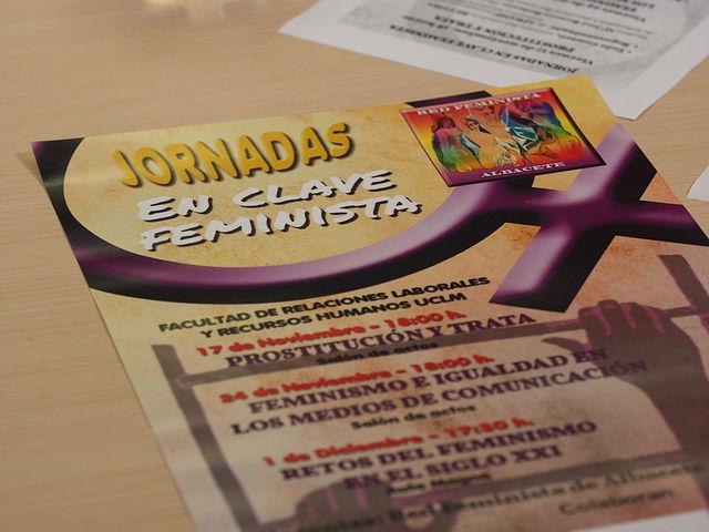 "Cartel jornadas ""En clave feminista"""