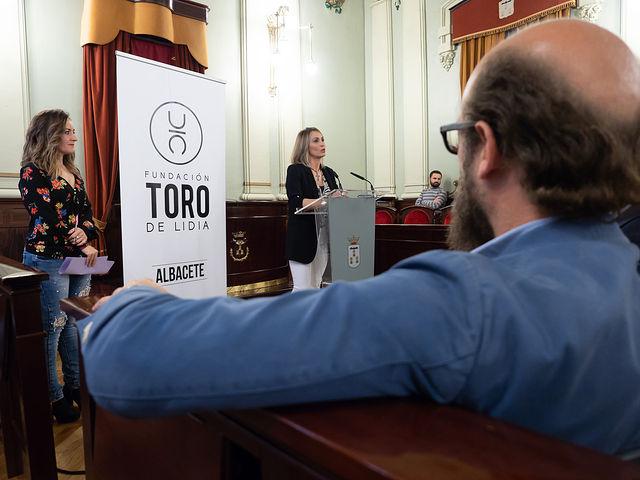 Cristina Sánchez, patrono de la Fundación Toro de Lidia en Albacete