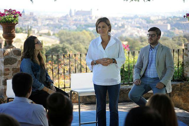 María Dolores Cospedal en un acto de NNGG en Toledo