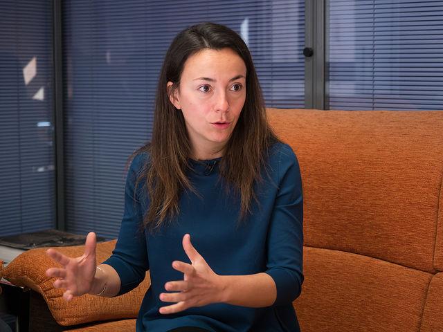 Elena Mansilla, socia-trabajadora de la Ciudad del Deporte