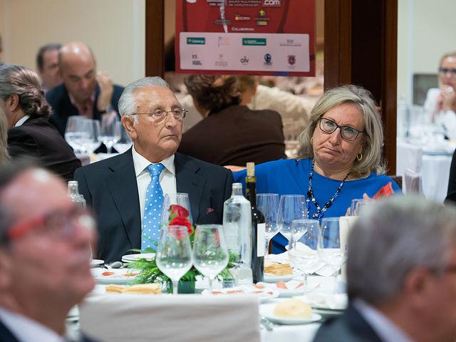 Manuel Amador y su esposa en la Gala de entrega de los XI Premios Taurinos Samueles correspondientes a la Feria de Taurina de Albacete 2016