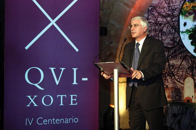 El presidente Barreda presidió el 29-11-04 en Sigüenza (Guadalajara) la presentación de los actos del IV Centenario.