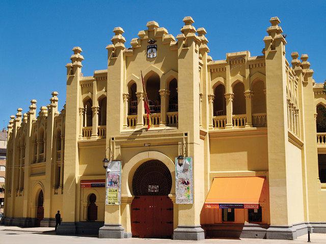 Vista de la Plaza de Toros de Albacete.