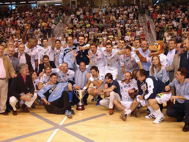 Equipo del Balonmano Ciudad Real ganador de la Liga Asobal 2006-2007.