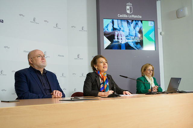La consejera de Bienestar Social, Aurelia Sanchez, hace balance del Sistema de Dependencia 2019. Foto: Manuel Lozano García / La Cerca