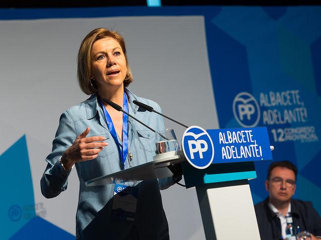 María Dolores Cospedal en el XII Congreso Provincial del PP de Albacete
