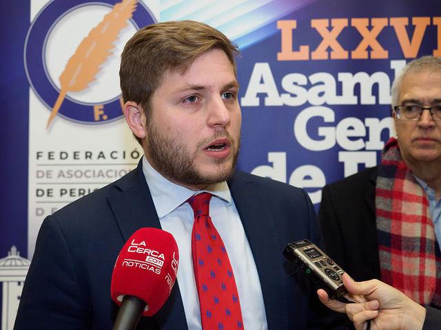 Nacho Hernando, portavoz del Gobierno de Castilla-La Mancha, en la LXXVIII Asamblea General de la FAPE, realizada en Albacete