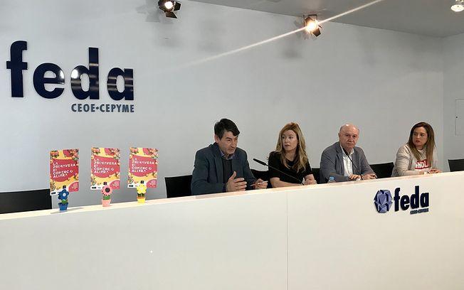 Presentación de la camapaña de primavera del comercio de Albacete y provincia, entre FECOM y Globalcaja.