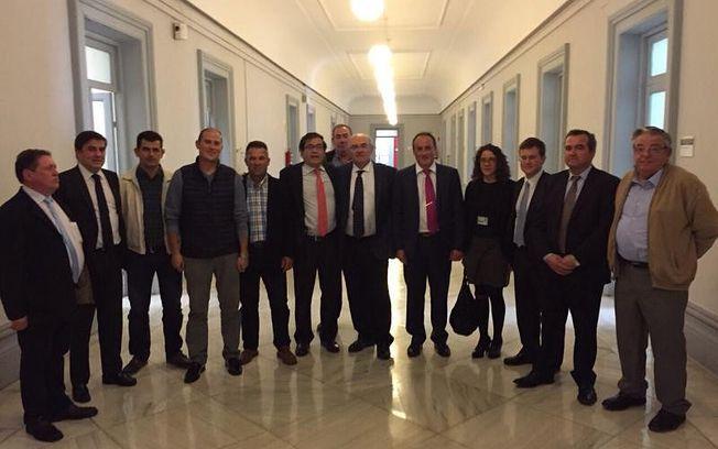 El Comité Ejecutivo de ASAJA de Cuenca se reúne con representantes del Ministerio de Agricultura y del Congreso de los Diputados en Madrid. Foto: ASAJA CLM.