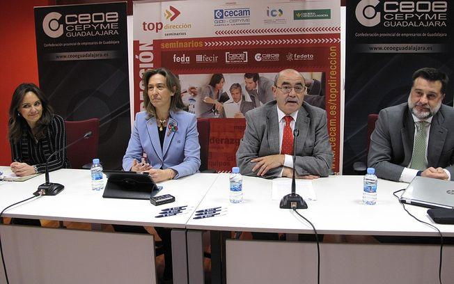 De izquierda a derecha Ana López-Casero, Ana Guarinos, Pedro Hernández Barbería y Alberto Alcalde