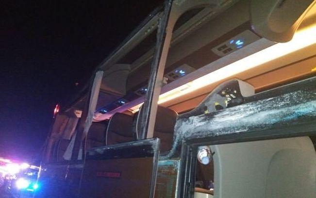Autobús accidentado.