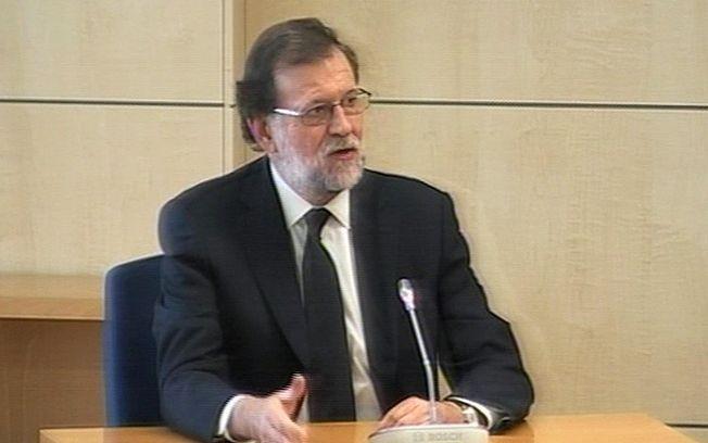 Mariano Rajoy durante su intervención ante la Audiencia Nacional