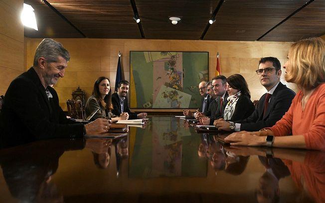 Reunión de la Comisión Permanente de Coordinación del Gobierno de coalición entre PSOE y Unidas Podemos - Óscar Cañas - Europa Press.